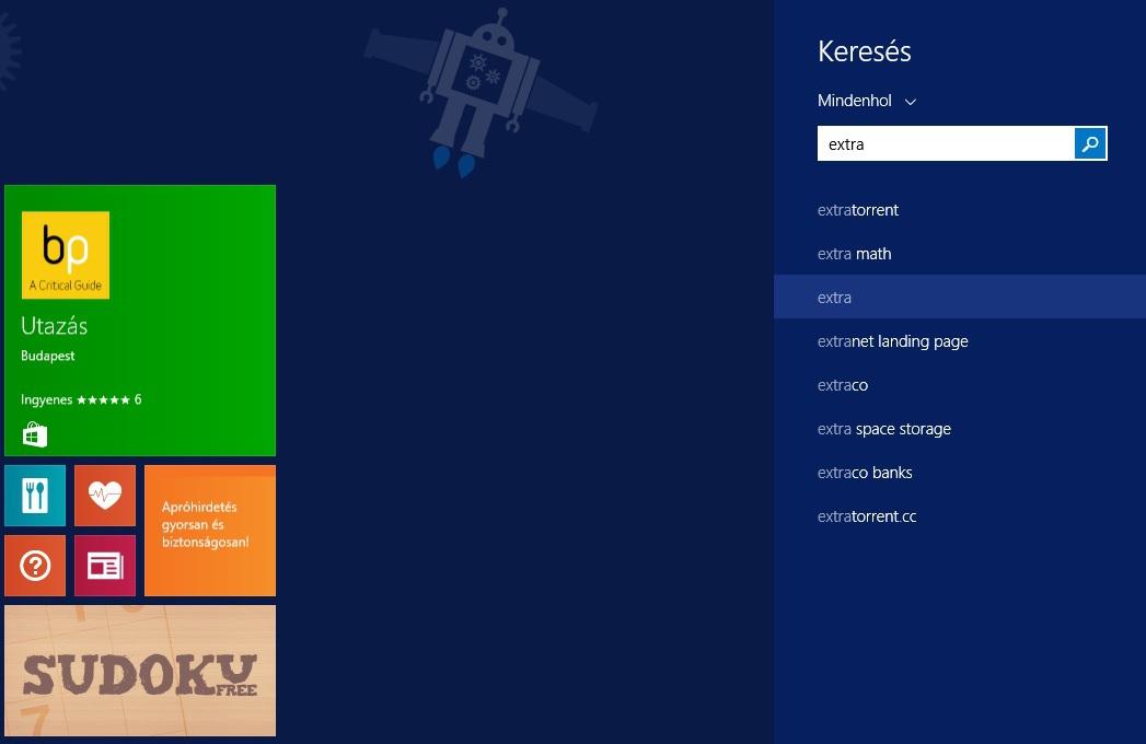 [Windows 8.1] Bing letiltása a keresőben
