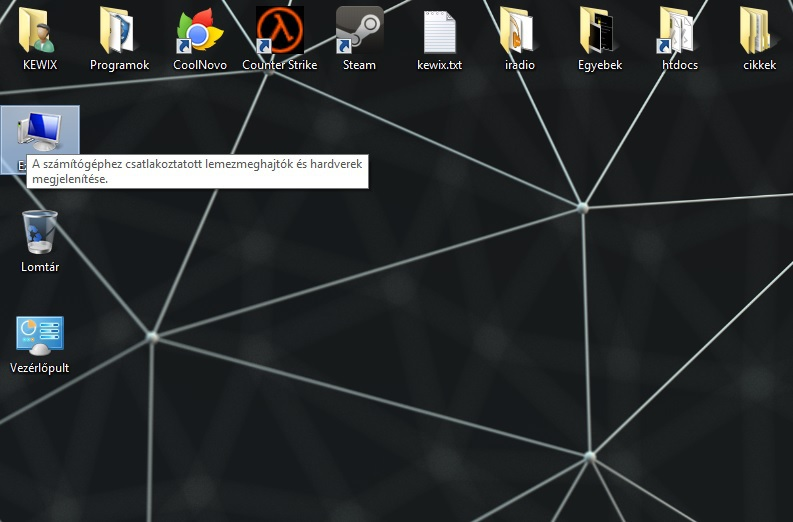 [Windows 8.1] Számítógép, vezérlőpult és felhasználó fájljai mappa kihelyezése az asztalra