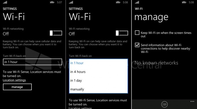 Automatikusan bekapcsolható WiFi a Windows Phone 8.1-ben