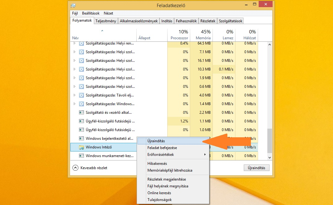 [Windows 8.1] Explorer.exe, azaz Windows intéző újraindítása
