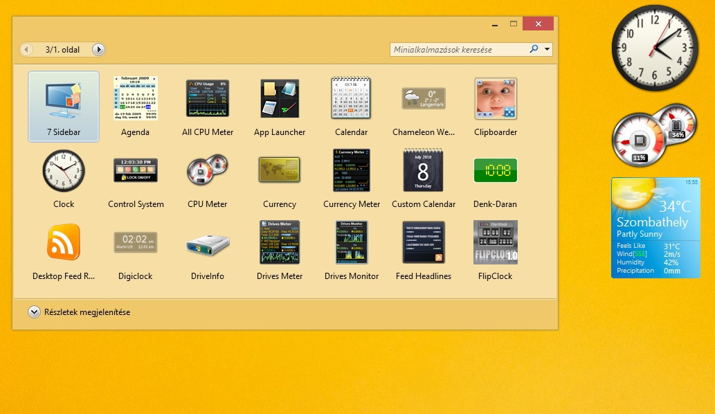 Minialkalmazások Windows 8-ra!