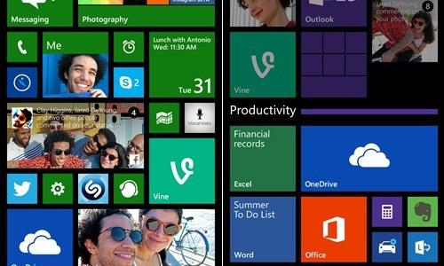 Windows Phone 8.1 GDR1 élő mappa videón