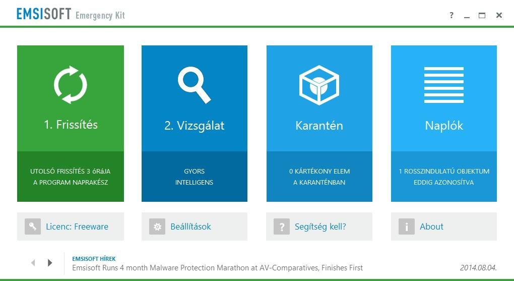 Elérhető az Emsisoft Emergency Kit 9 Béta