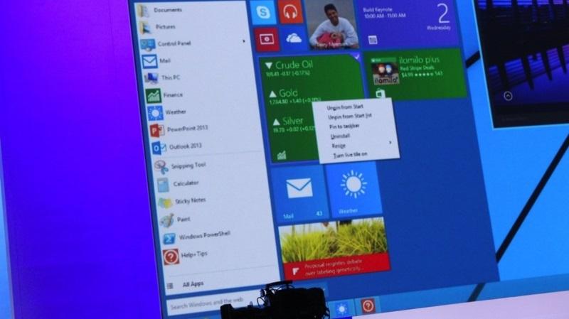 Windows 9 - Így fog működni a start menü
