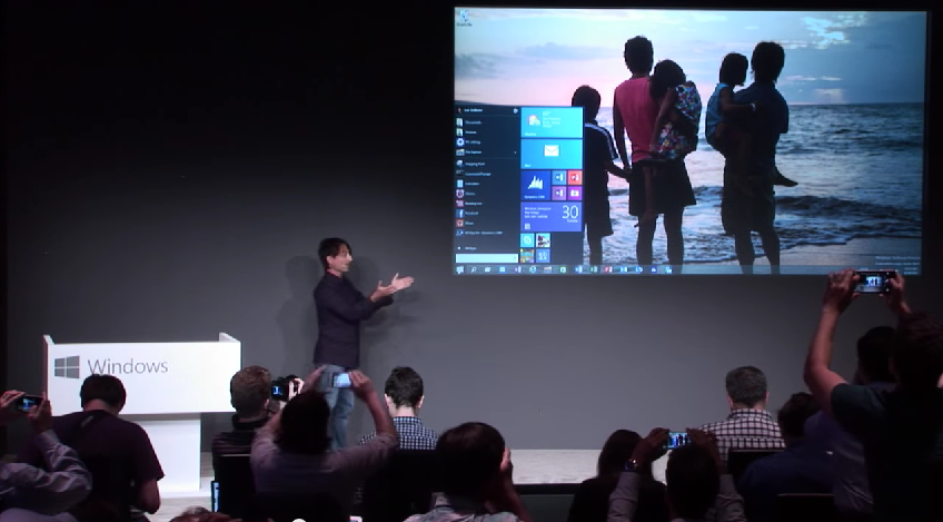Videón a Windows 10 bejelentése