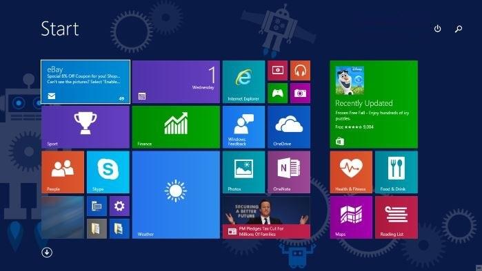 Windows 10 TP - Metro felület elővarázsolása