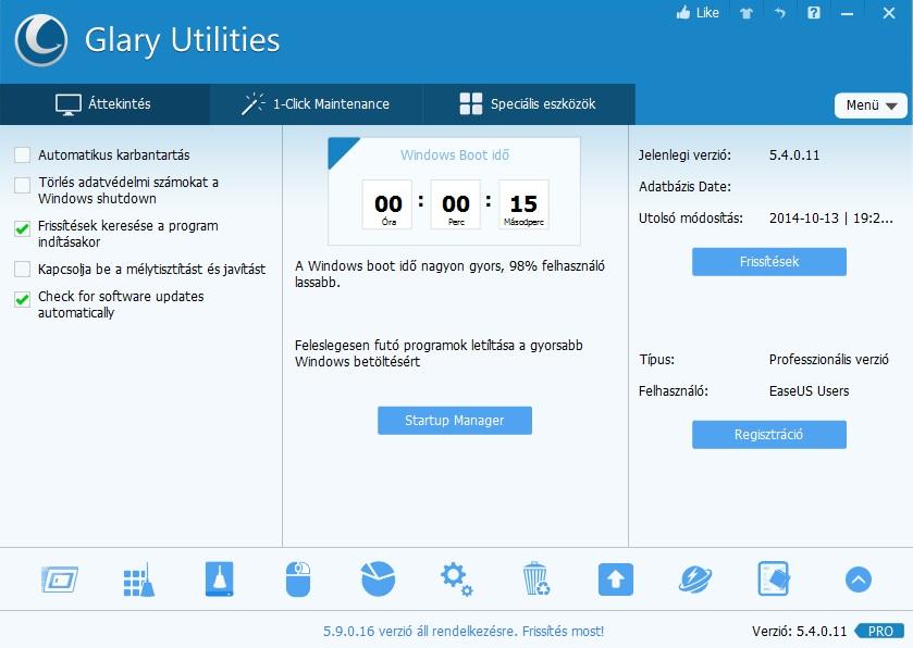 Glary Utilities Pro ingyen
