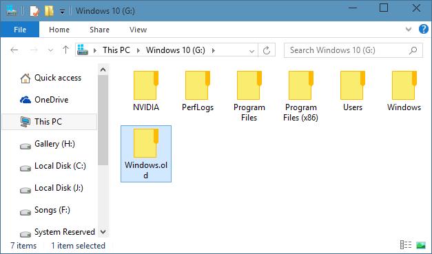[Hogyan] Távolítsuk el a Windows.old mappát Windows 10 alatt