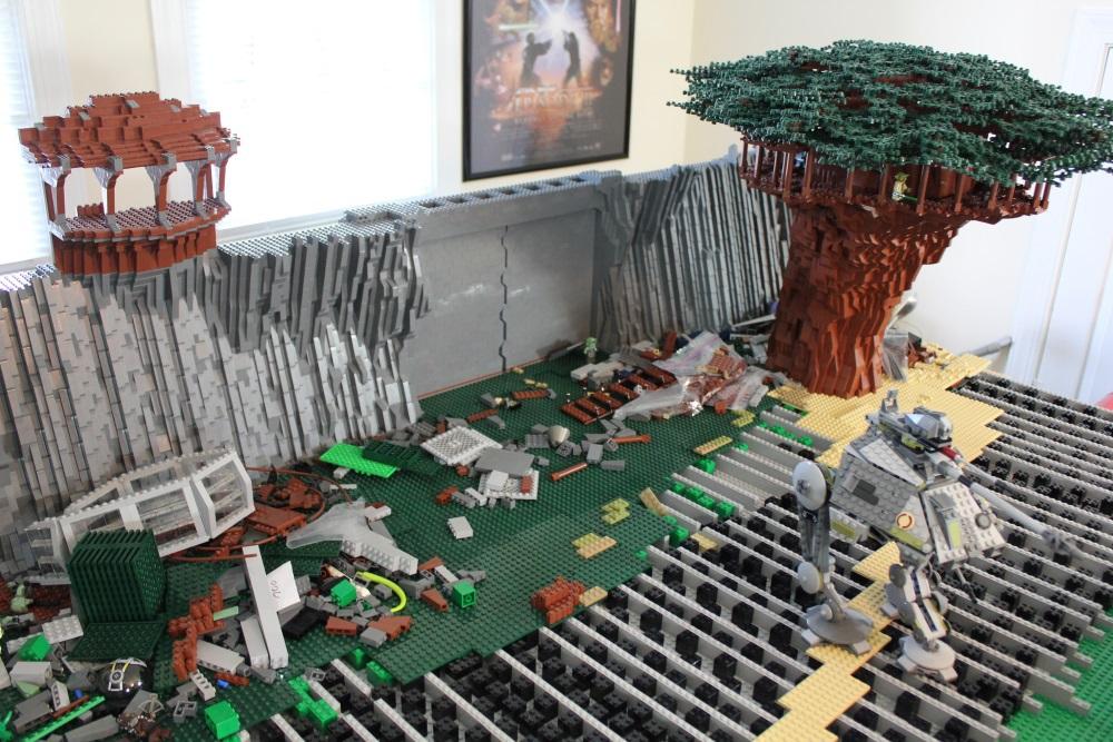 Óriási LEGO Kashyyyk terepasztal épül