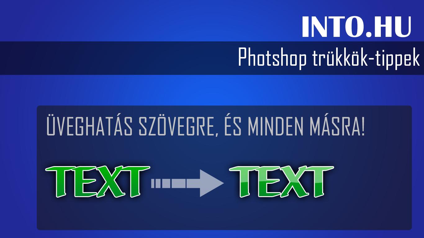 Photoshop trükk: Üveghatás készítése
