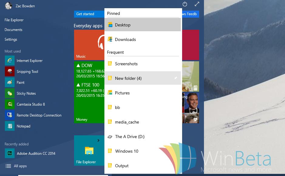 [Hogyan] Aktiváljuk az új Jump List kinézetet Windows 10 alatt