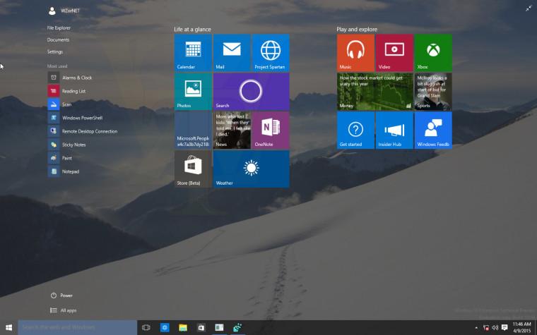Kiszivárgott és letölthető a Windows 10 build 10056 x64