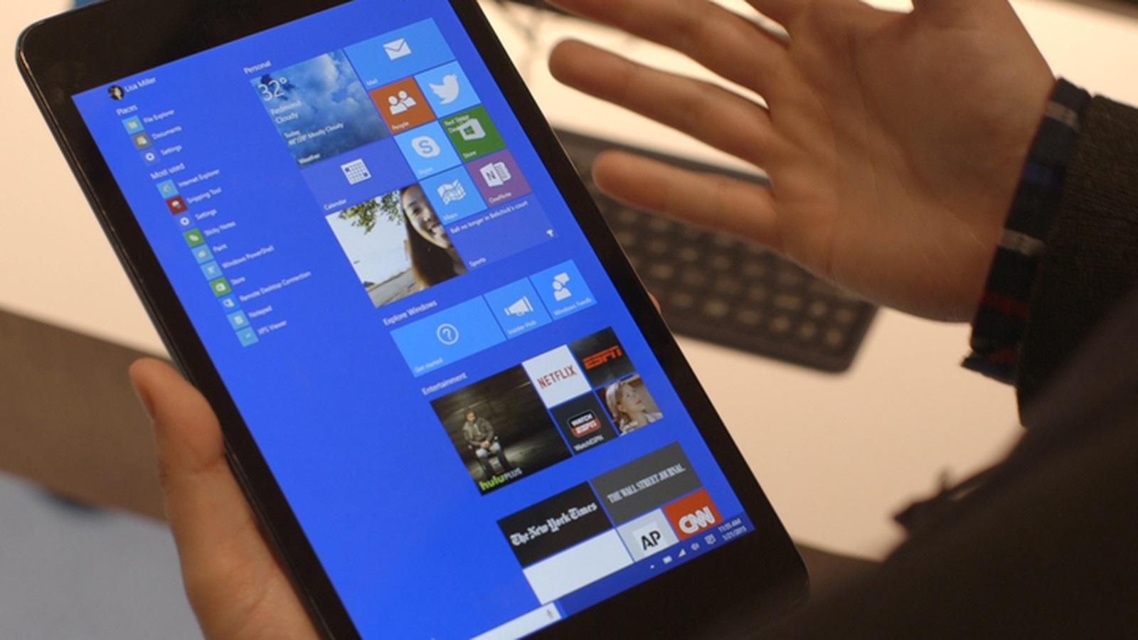 Így néz ki táblagépen a Windows 10 Build 10162