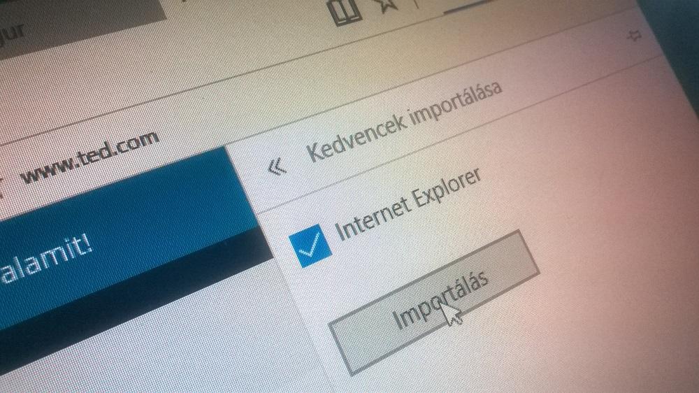 Chrome könyvjelzők importálása Microsoft Edge-be