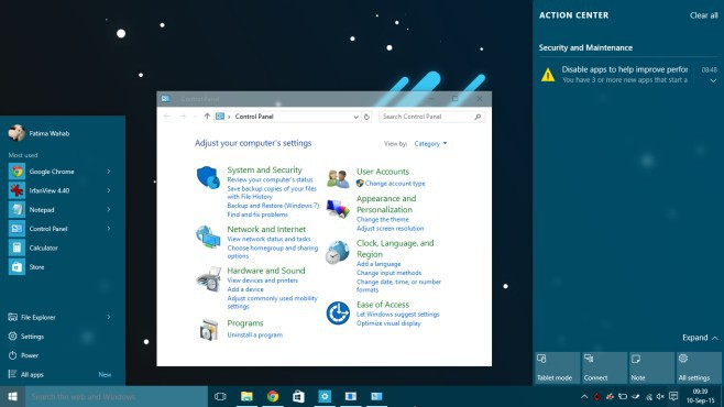 Aero Glass Windows 10 alatt