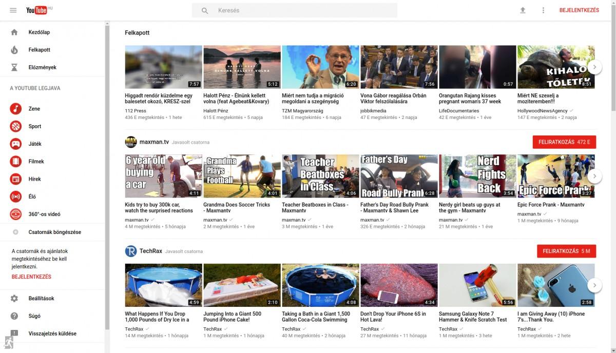 Kipróbálnád a YouTube új, material megjelenését? itt a lehetőség!