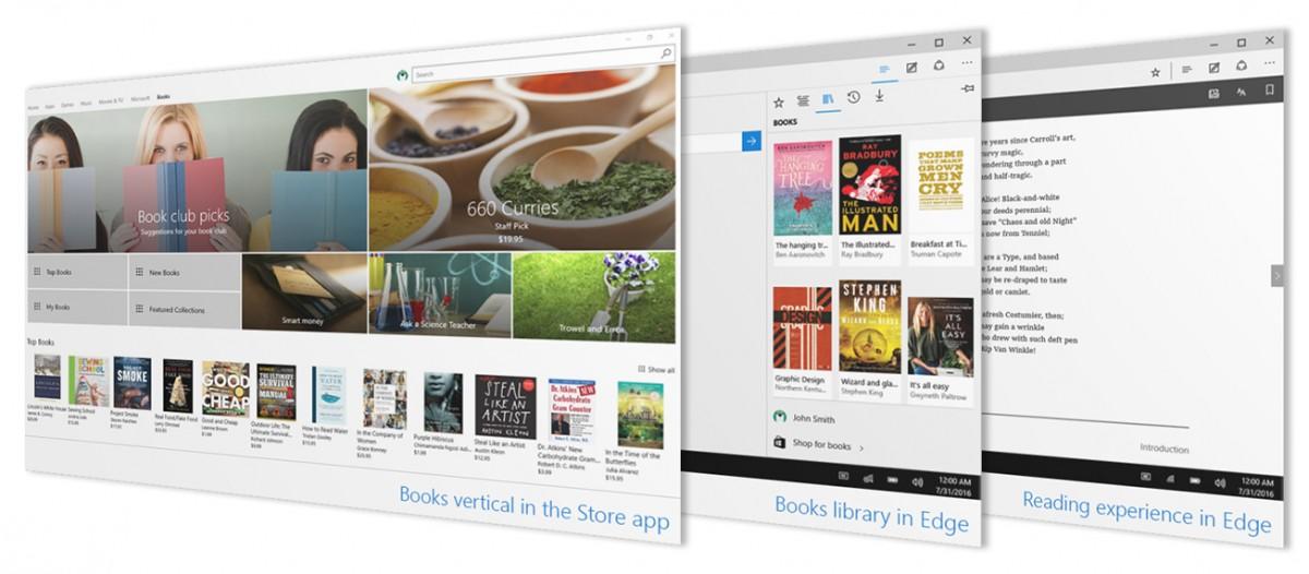 Ebook támogatás és jobb személyre szabhatóság az új Windows 10 előzetesben