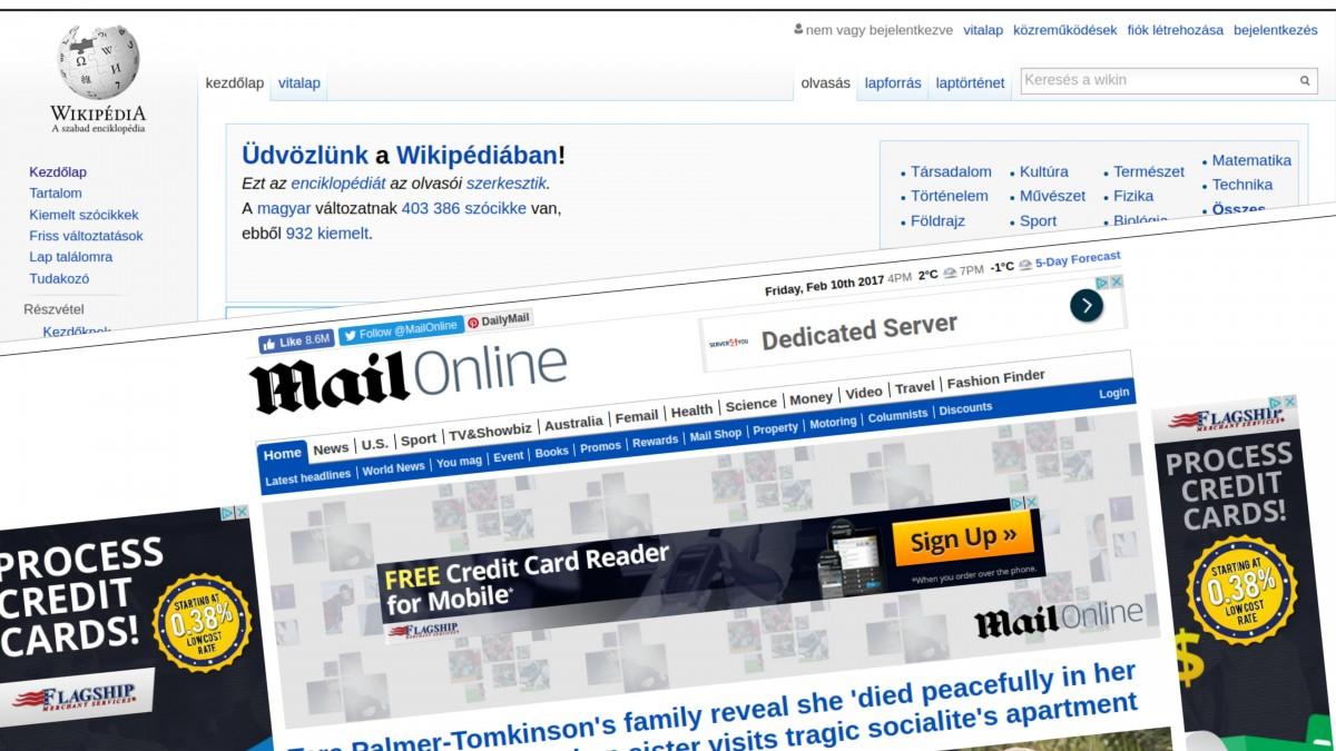A Wikipédia megbízhatatlan oldalnak jelölte meg a Daily Mail-t