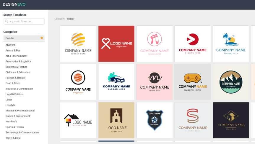 Ha szeretnénk egy ingyen logót, válasszuk a DesignEvo-t!