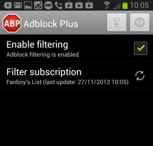 Adblock Plus Androidra
