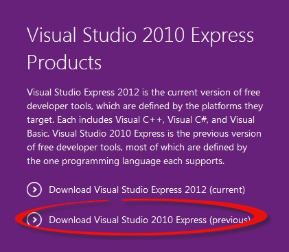 Microsoft Visual C# 2010 telepítése