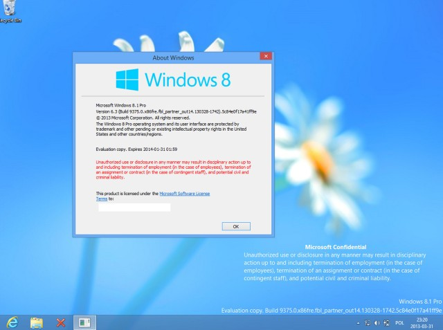 Windows Blue helyett 8.1?